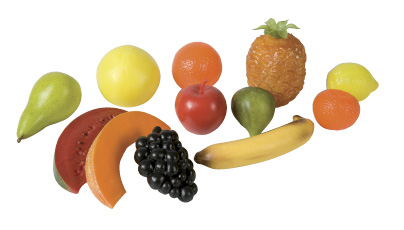 Plastic fruit set
