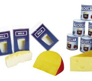 Plastic Milk, Yoghurt and Cheese Set