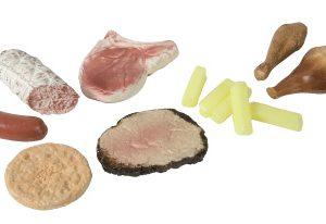 Plastic Meat Set