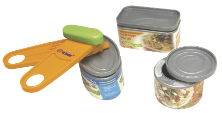Plastic Cans and Can Opener