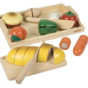 Wooden vegetable cutting set