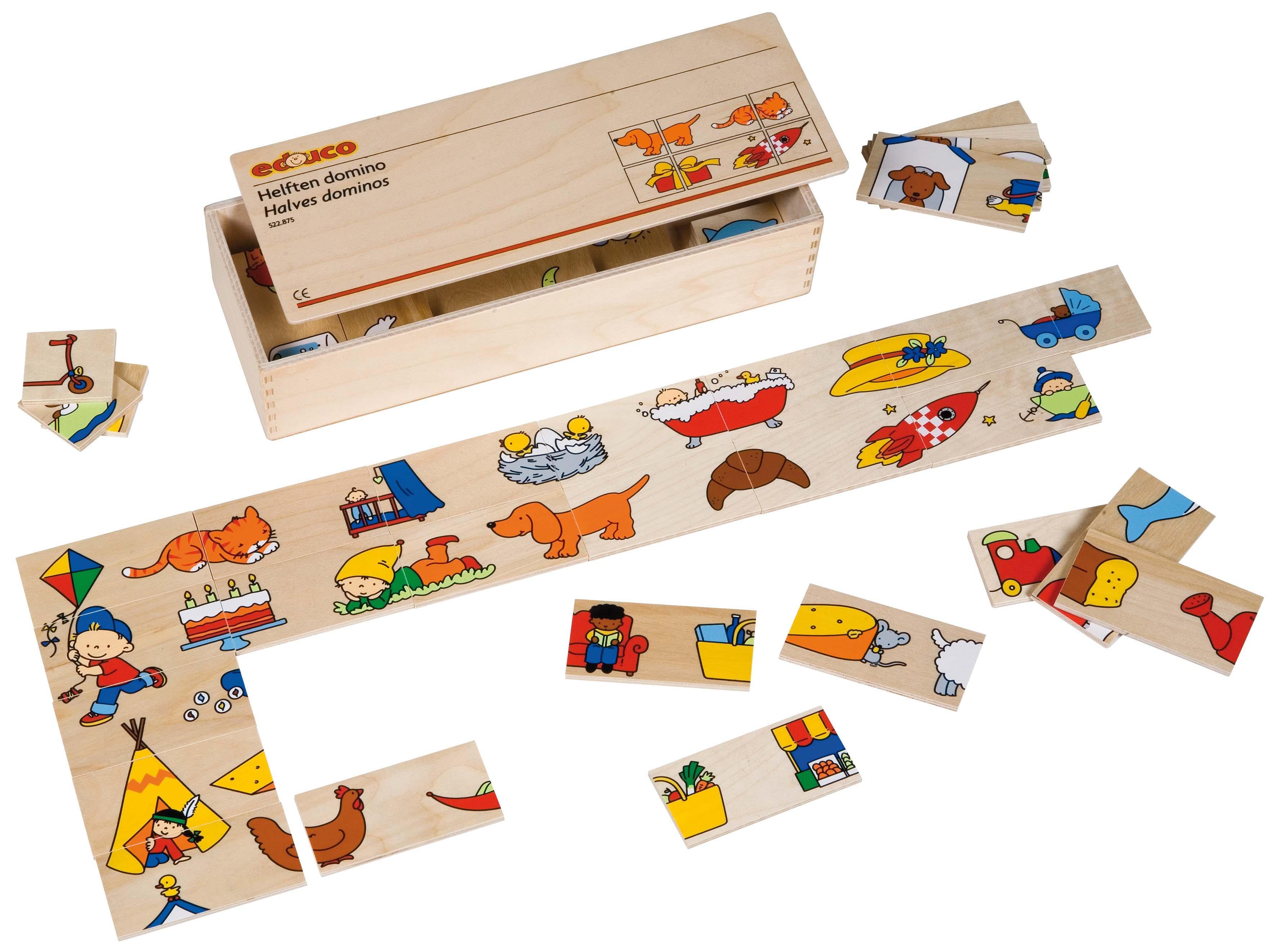 Picture domino set