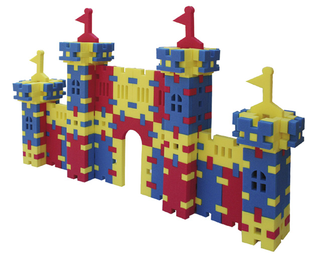 Large building blocks castle