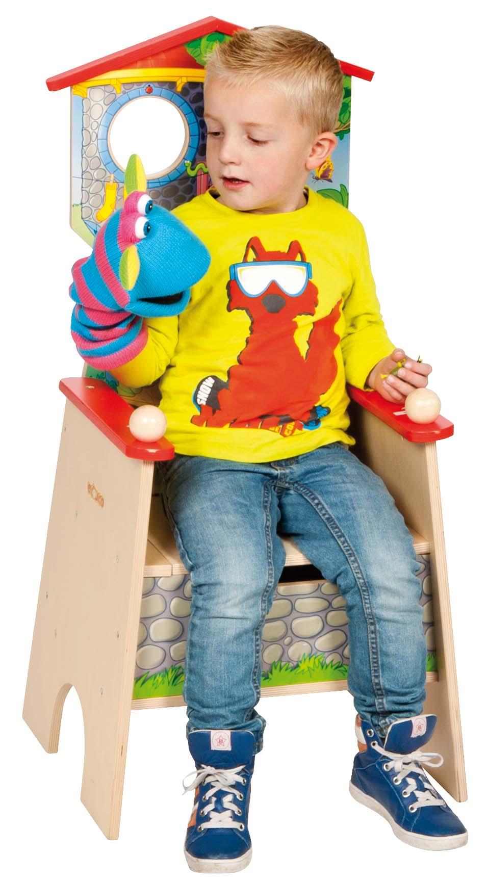 Wooden story chair