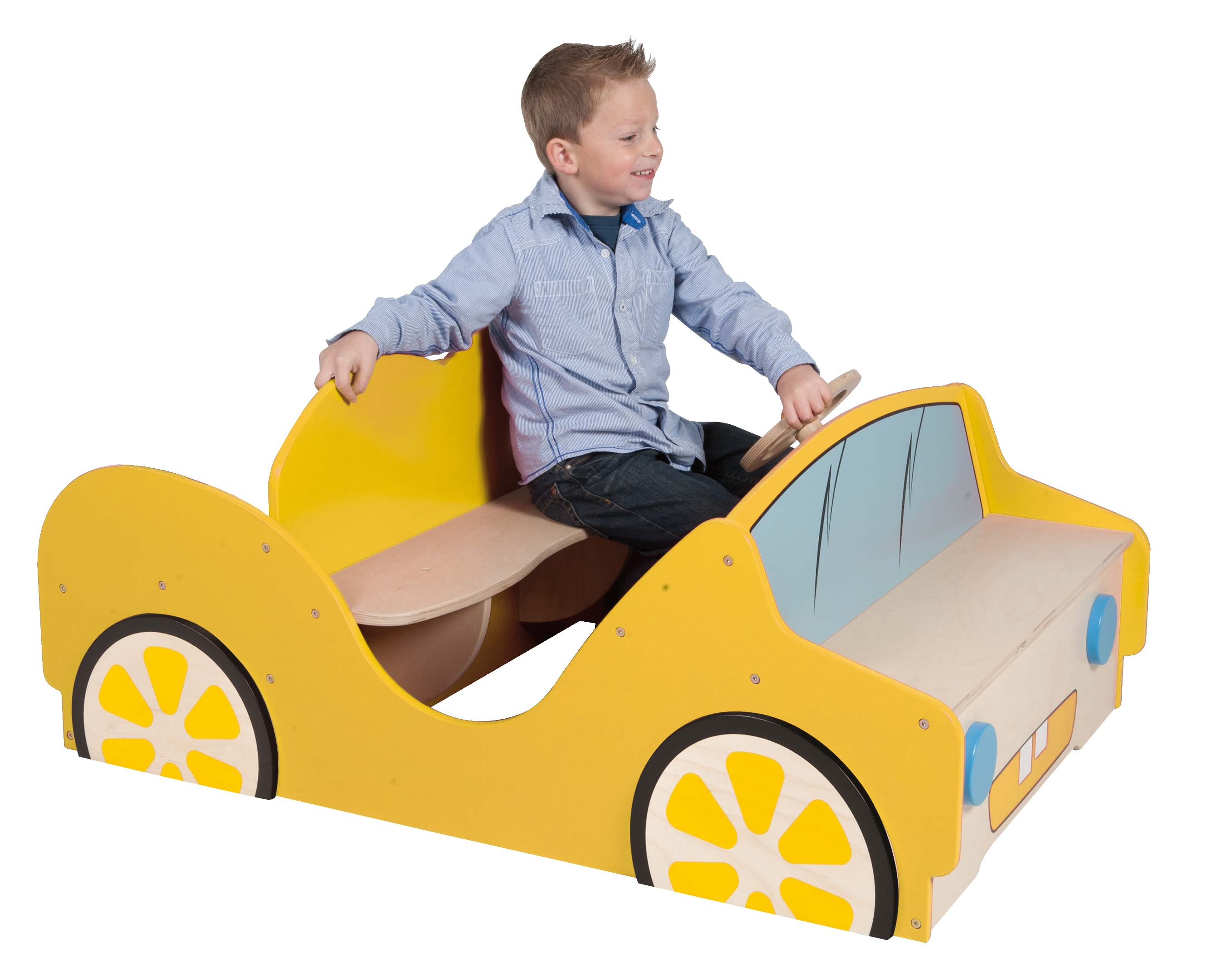Wooden play car