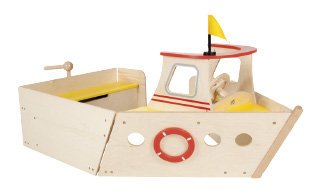 Wooden play boat