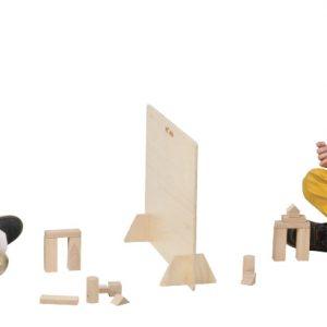 Wooden dividing wall