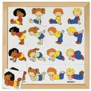 Puzzle match the postures