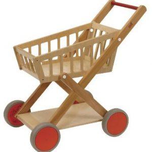 Wooden shopping cart