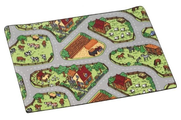 Traffic play mat farm