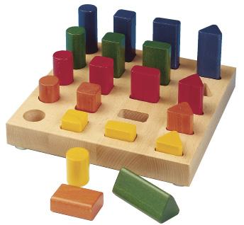 Shape sorting game