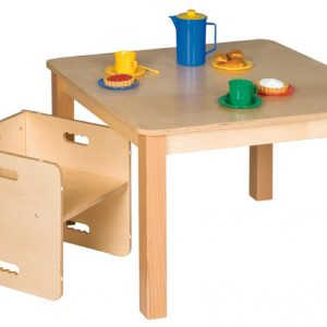 Square wooden children's table