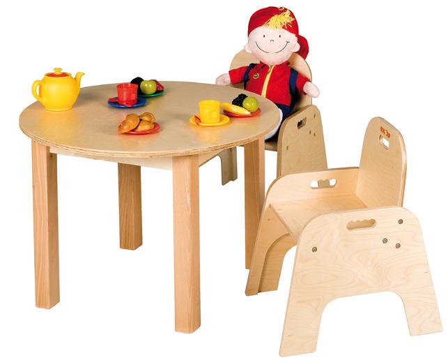 Round wooden children's table
