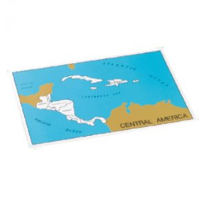 Central America Puzzle Map on