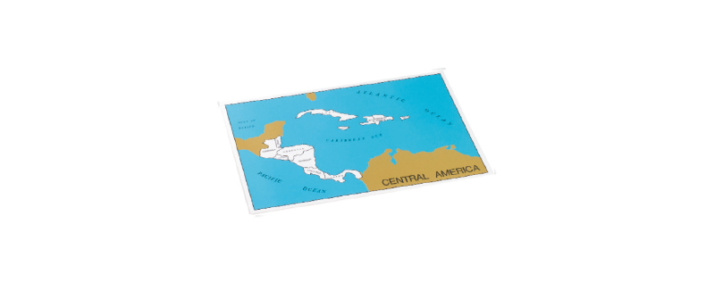Central America Puzzle Map